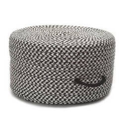 Colonial Mills Houndstooth Pouf Uf49 Black
