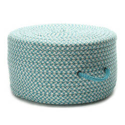 Colonial Mills Houndstooth Pouf Uf57 Turquoise