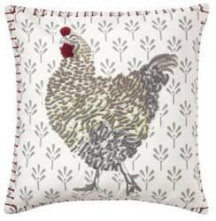 Company C Coq-A-Doodle Pillow 10763 White