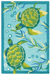 Company C Turtle Bay 10769 Turquoise Area Rug