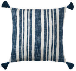 Company C Denim Stripe Pillow 10773 Navy