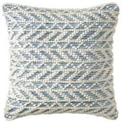 Company C Herringbone Berber Pillow 10781 Blue