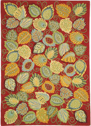 Company C Foliage 18532 Chili Area Rug