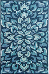 Company C Petal Pusher 19242 Blue Area Rug