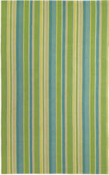 Company C Lemongrass Stripe 19293 Lime Area Rug