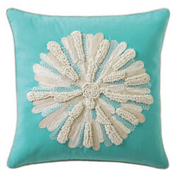 Company C Asters Pillow 18934k Aqua