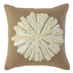 Company C Asters Pillow 18934k Driftwood