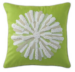 Company C Asters Pillow 18934k Lime