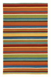 Company C Cabana Stripe 18987 Orange Area Rug