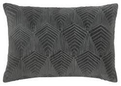 Company C Sloan Velvet Pillow 10734 Gray