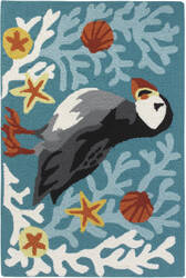 Company C Puffin 10190 Turquoise Area Rug