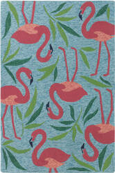 Company C Fancy Flamingo 10186 Aqua Area Rug