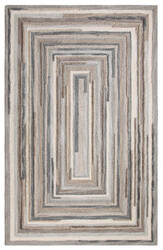 Company C Concentric Square 18143 Gray Area Rug