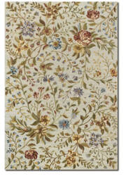 Couristan Eden Spring Blooms Ivory - Azure Area Rug