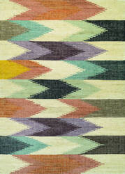 Couristan Mesquite Bayou Linen - Plum - Dusty Blue Area Rug