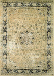 Couristan Zahara Persian Vase Oatmeal - Black Area Rug