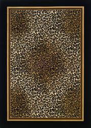 Couristan Everest Leopard Ivory - Black Area Rug