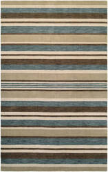Couristan Mystique Bliss Ivory - Teal - Brown Area Rug