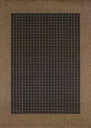 Couristan Recife Checkered Field Black - Cocoa Area Rug