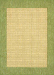 Couristan Recife Checkered Field Natural - Green Area Rug