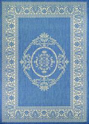 Couristan Recife Antique Medallion Champ - Blue Area Rug
