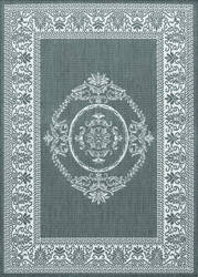 Couristan Recife Antique Medallion Grey - White Area Rug