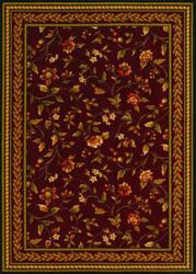 Couristan Royal Luxury Winslow Bordeaux Area Rug
