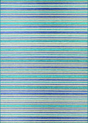 Couristan Cape Brockton Cobalt - Teal Area Rug
