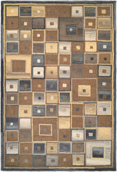 Couristan Super Indo Natural Abstract Squares Brown Area Rug