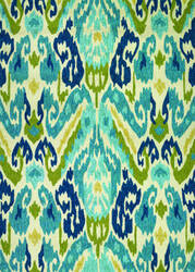 Couristan Covington Delfina Azure - Lemon Area Rug