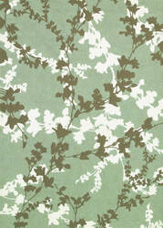 Couristan Covington Willow Branch Sage - Ivory Area Rug