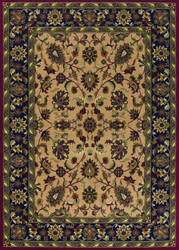 Couristan Anatolia Floral Ispaghan Cream - Navy Area Rug