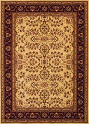 Couristan Anatolia Antique Herati Cream - Red Area Rug