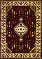 Couristan Anatolia Tribal Diamond Red - Cream Area Rug