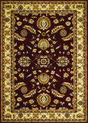 Couristan Anatolia Floral Heriz Red - Cream Area Rug