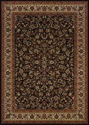 Couristan Everest Isfahan Black Area Rug