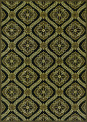 Couristan Dolce Napoli Black - Gold Area Rug