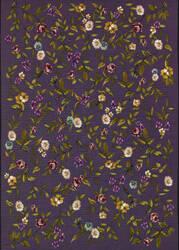 Couristan Dolce Gardenia Black - Multi Area Rug