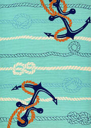 Couristan Outdoor Escape Anchorbend Ocean Blue Area Rug