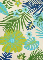 Couristan Covington Summer Laelia Ivory - Fern Area Rug