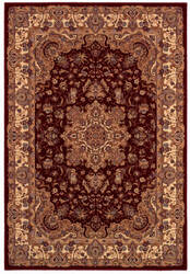 Couristan Himalaya Annapurna Antique Cream - Persian Red Area Rug