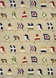 Couristan Outdoor Escape Nautical Flags Sand Area Rug
