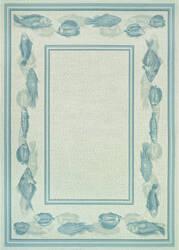 Couristan Dolce Corvina Ivory - Light Blue Area Rug
