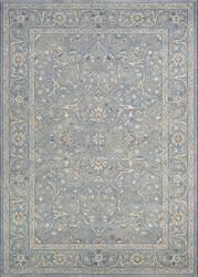 Couristan Sultan Treasures Floral Yazd Slate Blue Area Rug
