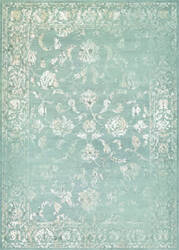 Couristan Provincia Botanic Applique Mint - Cream Area Rug