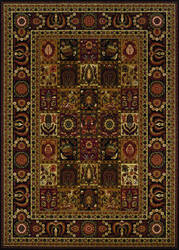 Couristan Royal Kashimar Antique Nain Black Area Rug