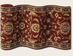 Couristan Royal Luxury Brentwood Bordeaux 1323-0002 Custom Length Runner