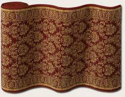 Couristan English Manor Devonshire 3339-0001 Wine A Custom Length Runner