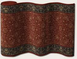 Couristan English Manor Newcastle 3348-0004 Wine A Custom Length Runner