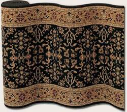 Couristan Royal Kashimar Ushak Black Deep Maple 8198-2596 Custom Length Runner